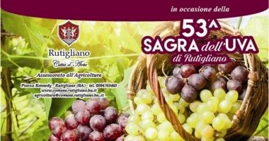 Rutigliano (Bari), 53^ Sagra dell'Uva dal 23 al 24 settembre 2017